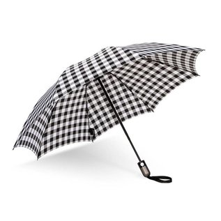 UnbelievaBrella Printed Compact Reverse Umbrella -Bison Black White