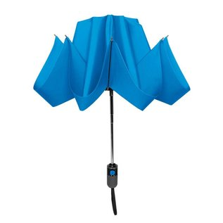 UnbelievaBrella Printed Compact Reverse Umbrella - Blue