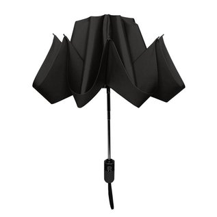 UnbelievaBrella Printed Compact Reverse Umbrella - Black