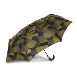 WindPro® Vented Auto Open/Auto Close Compact Print Umbrella - Tortoise Green