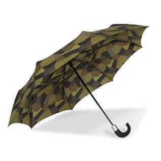 WindPro® Vented Auto Open/Auto Close Compact Print Umbrella - Tortoise Green
