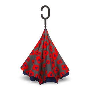 UnbelievaBrella™ Reverse Umbrella - Blue/Inca