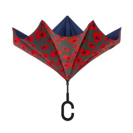 UnbelievaBrella™ Reverse Umbrella - Blue/Inca