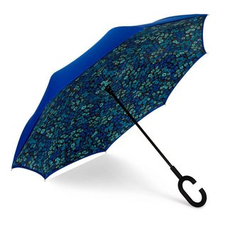 UnbelievaBrella™ Reverse Umbrella - Blue/Monet