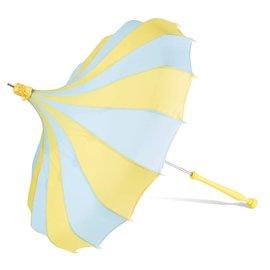 Bella Umbrella Signature Bella Custom Pinwheel Blue & Yellow
