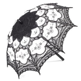 Goldenstate Lace Parasol Black & White
