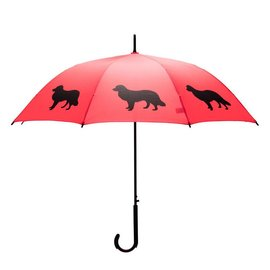 San Francisco Umbrella Border Collie - Red/Black