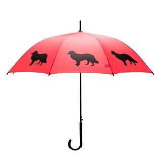 San Francisco Umbrella Animal Umbrella - Border Collie - Red/Black