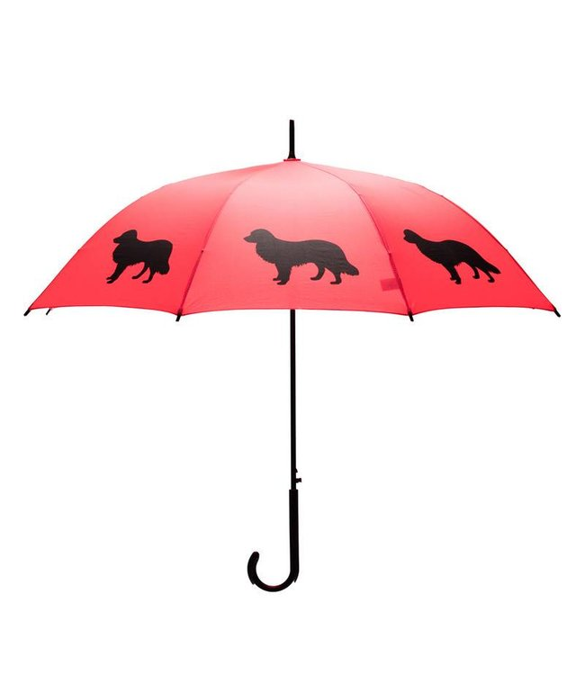 San Francisco Umbrella Animal Umbrella - Border Collie - Red/Black