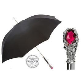 Pasotti Pasotti Italian Umbrella Red Gem and Swarovski® Crystals Handle
