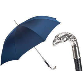 Pasotti Pasotti Italian Navy Umbrella with Silver Eagle Handle