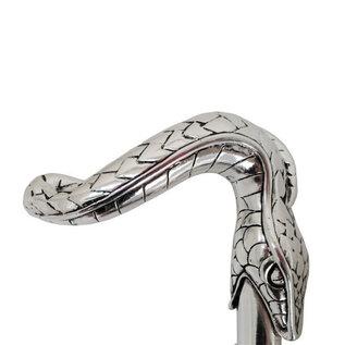 Pasotti Pasotti Italian Umbrella Silver Snake Handle