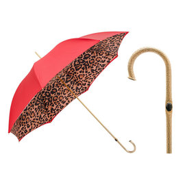 Pasotti Pasotti Itlian Umbrella Double Red Leopard