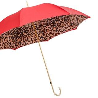 Pasotti Pasotti Itlian Umbrella Double Red Leopard