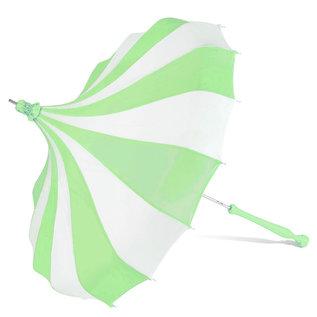 Bella Umbrella Signature Bella Custom Pinwheel Green & White