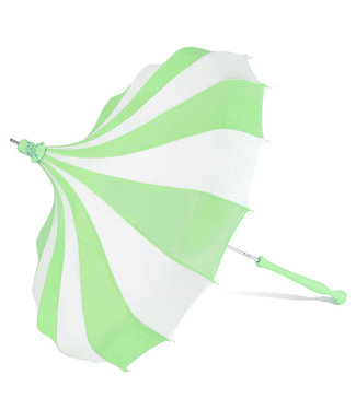 Bella Umbrella Signature Bella Custom Pinwheel Green & White