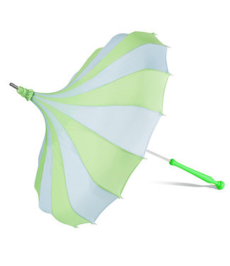 Bella Umbrella Signature Bella Custom Pinwheel Blue & Green