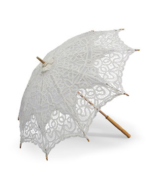 Goldenstate Lace Parasol White