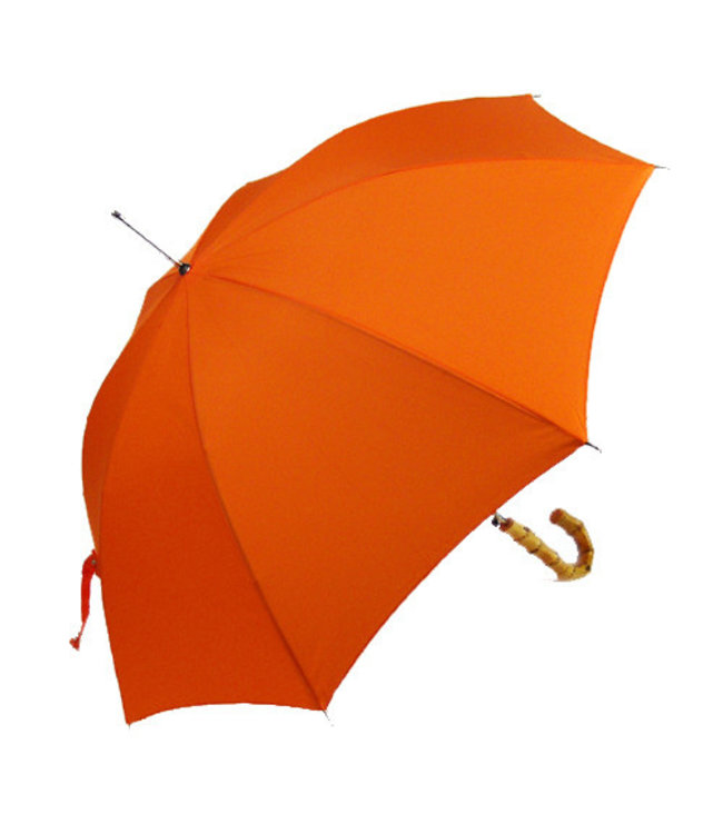 Vista Classic Umbrellas - Bamboo Handle Orange