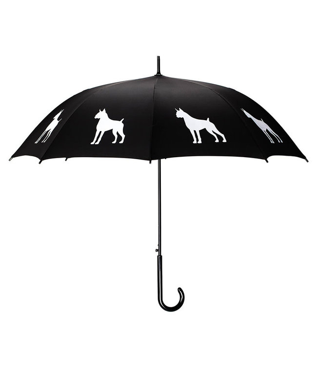 San Francisco Umbrella Animal Umbrella - Boxer Umbrella Black/White