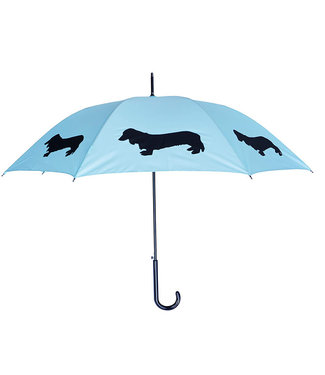San Francisco Umbrella Dachshund Long Haired - Blue/Blk