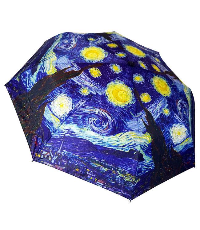 San Francisco Umbrella Art Series Compact Van Gogh Starry Night