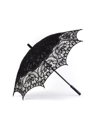 Goldenstate Lace Parasol Black