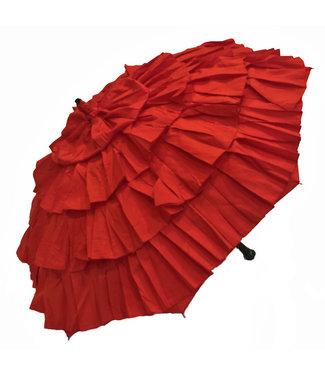 Vista Red Ruffled Umbrella
