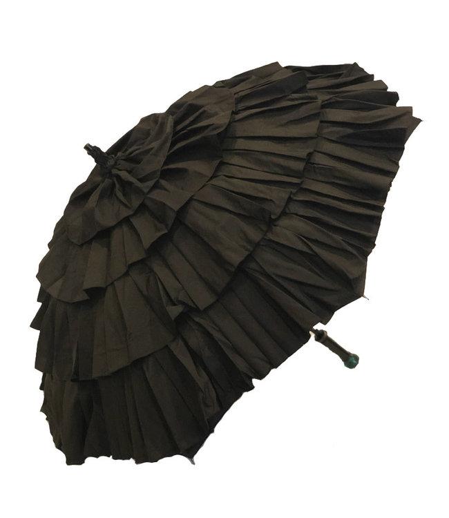 Vista Black Ruffled Umbrella