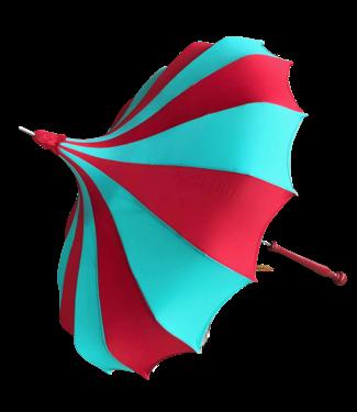 Bella Umbrella Signature Bella Custom Pinwheel - Aqua & Red