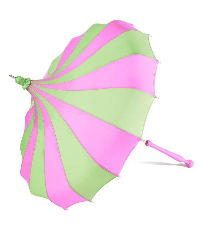 Bella Umbrella Signature Bella Custom Pinwheel - Green & Magenta