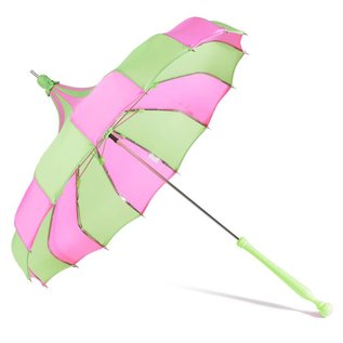 Bella Umbrella Signature Bella Custom Pinwheel - Green & Magenta