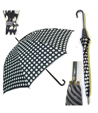 Vista Black and White Polka Dot Umbrella