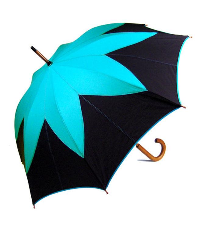 Vista Lotus Flower Umbrella Teal