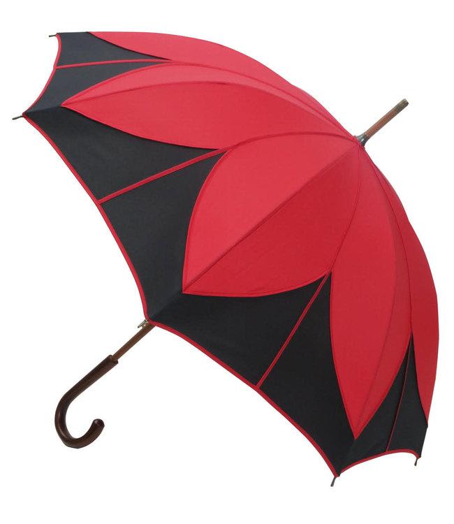 Vista Lotus Flower Umbrella Red