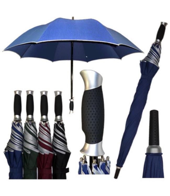 Vista Golf Umbrella Black with Silver Trim
