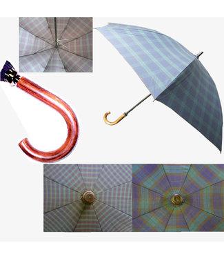 Vista Doorman Sizeed Plaid Tartan Umbrella