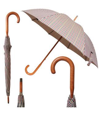 Vista Lux Gentelman's Plaid Umbrella Maple Handle