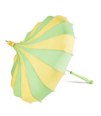 Bella Umbrella Signature Bella Custom Pinwheel Green & Yellow