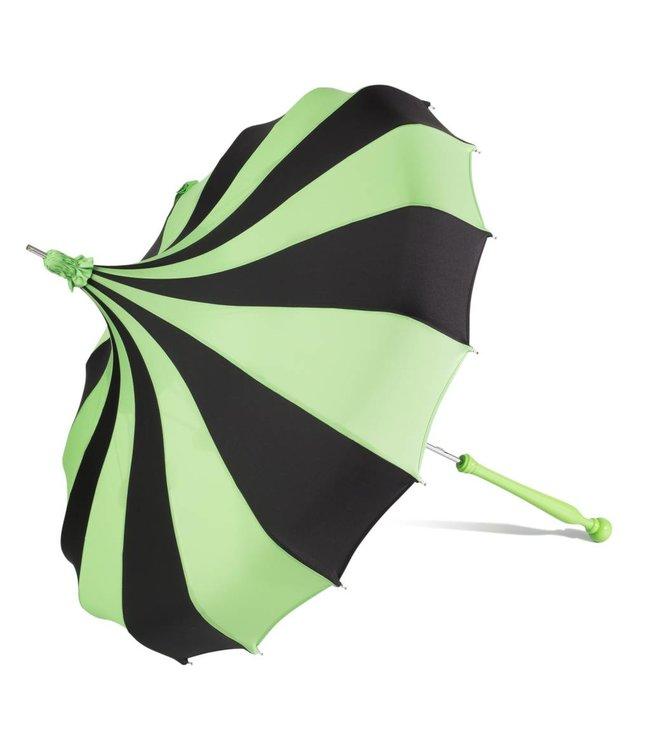 Bella Umbrella Signature Bella Custom Pinwheel Green & Black