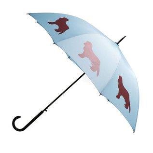 San Francisco Umbrella Cavalier King Charles Blue/Marsala