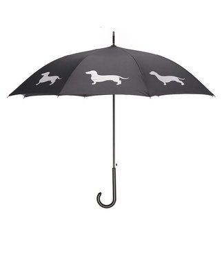 San Francisco Umbrella Dachshund Umbrella - Blk/White