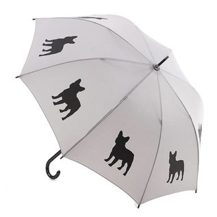 San Francisco Umbrella French Bulldog - Black/Silver