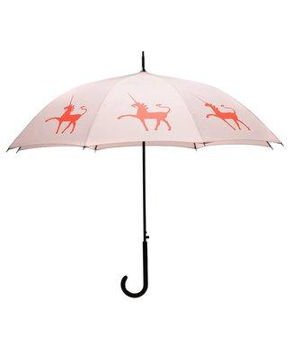 San Francisco Umbrella Unicorn Umbrella Taupe/Red