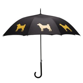 San Francisco Umbrella Shiba Inu Umbrella - Gold/Black w/ Sleeve
