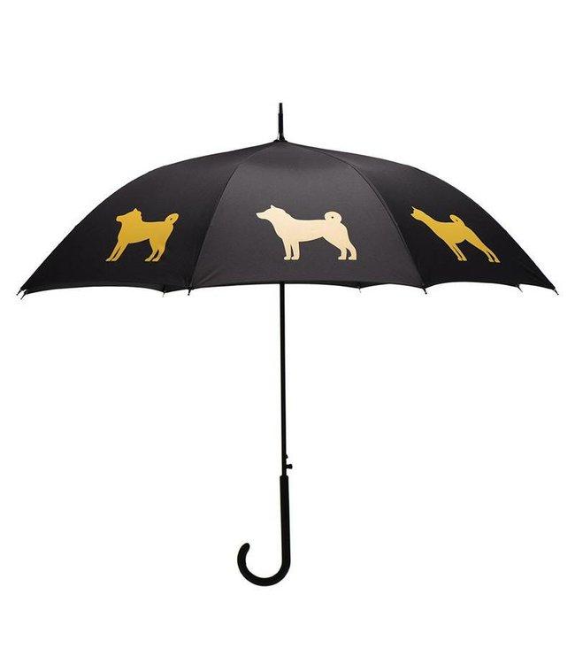 San Francisco Umbrella Shiba Inu Umbrella - Gold/Black w/ Sleeve