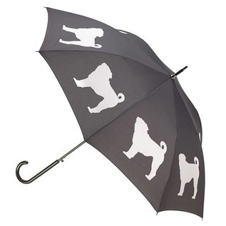San Francisco Umbrella Pug Umbrella - White/Black w/ Sleeve