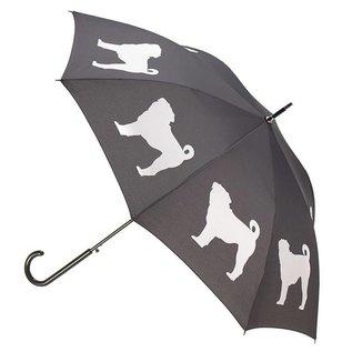 San Francisco Umbrella Pug Umbrella - White/Black w/ Sleeve