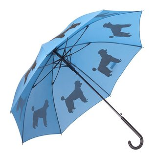 San Francisco Umbrella Poodle Umbrella - Black/Blue