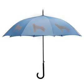 San Francisco Umbrella Siberian Husky Umbrella Blue/Silver